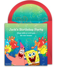 Digital SpongeBob Invitations Customize Online