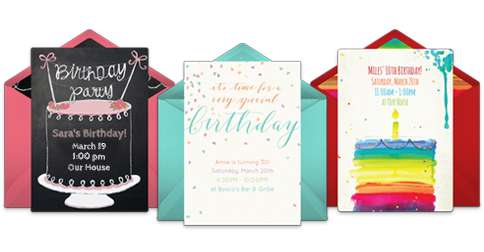 Free birthday invitations online invites punchbowl filmwisefo