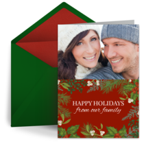 Modern Holiday Family Photo card image