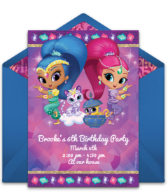 8c02531033 Digital Shimmer & Shine Invitations: Customize Online