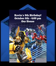 Digital Transformers Invitations
