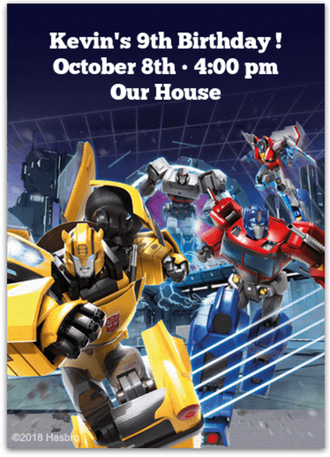 Digital Transformers Invitations