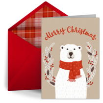 Holiday Polar Bear  card image