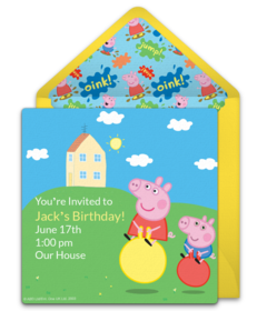 Digital Peppa Pig Invitations