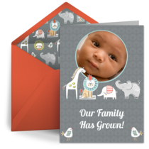 Free Online Birth Announcements Baby Announcement ECards Adoption