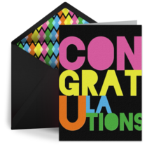 Grad Congrats Color card image