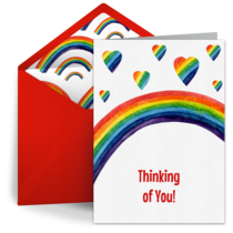 Rainbow Father's Day card image