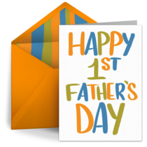 1st Father's Day card image