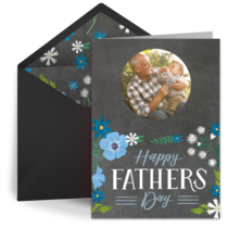 Dad Chalk Art Photo card image