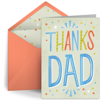 Thanks Dad card image
