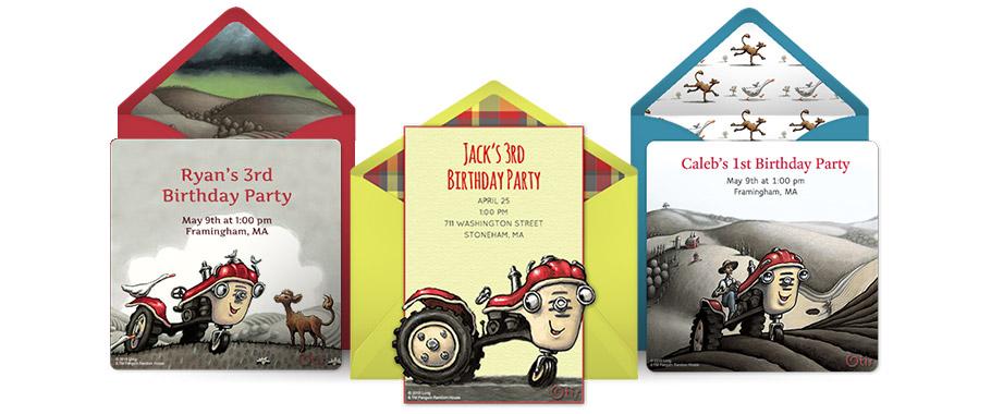 Free Otis the Tractor Invitations Otis the Tractor Online