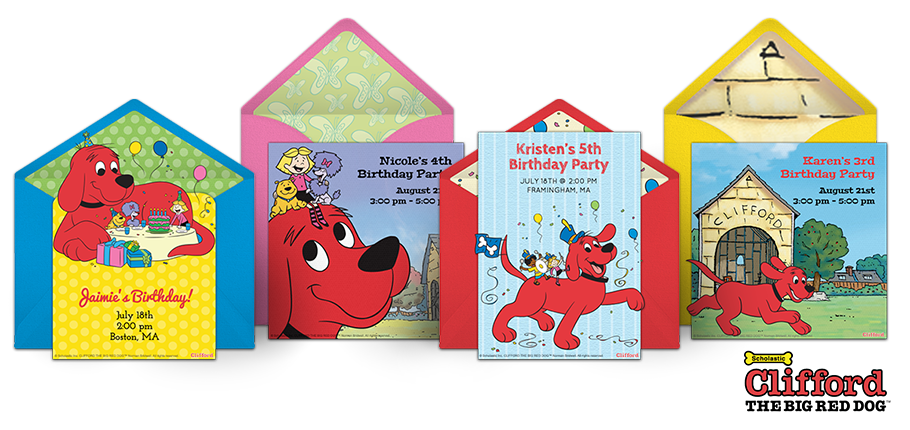 Free Clifford Invitations The Big Red Dog Online