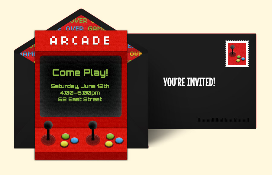 Plan a Arcade Machine Party!