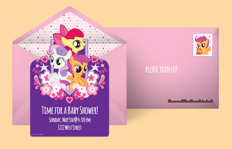 Free My Little Pony Invitations My Little Pony Online Invitations