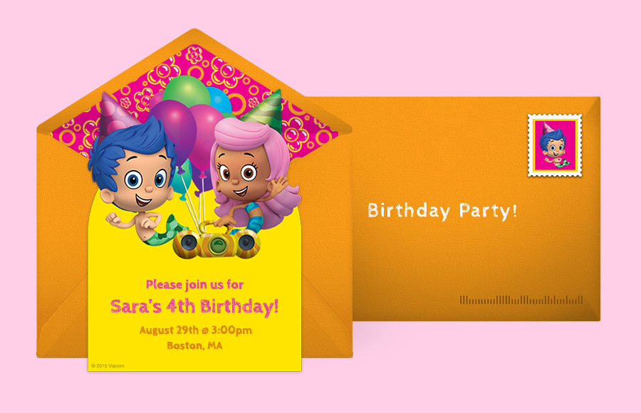 Free Bubble Guppies Invitations Bubble Guppies Online Invitations