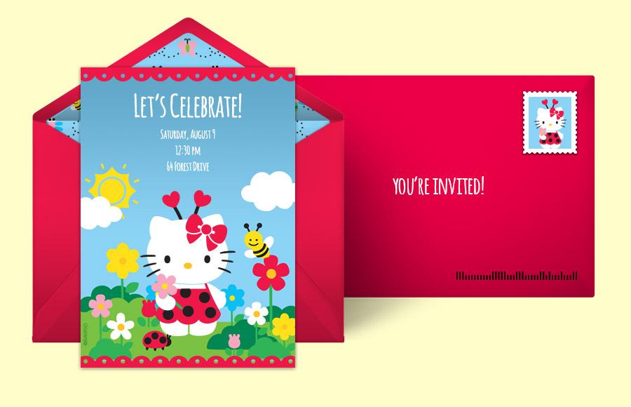 Free Hello Kitty Invitations Hello Kitty Online Invitations Punchbowl