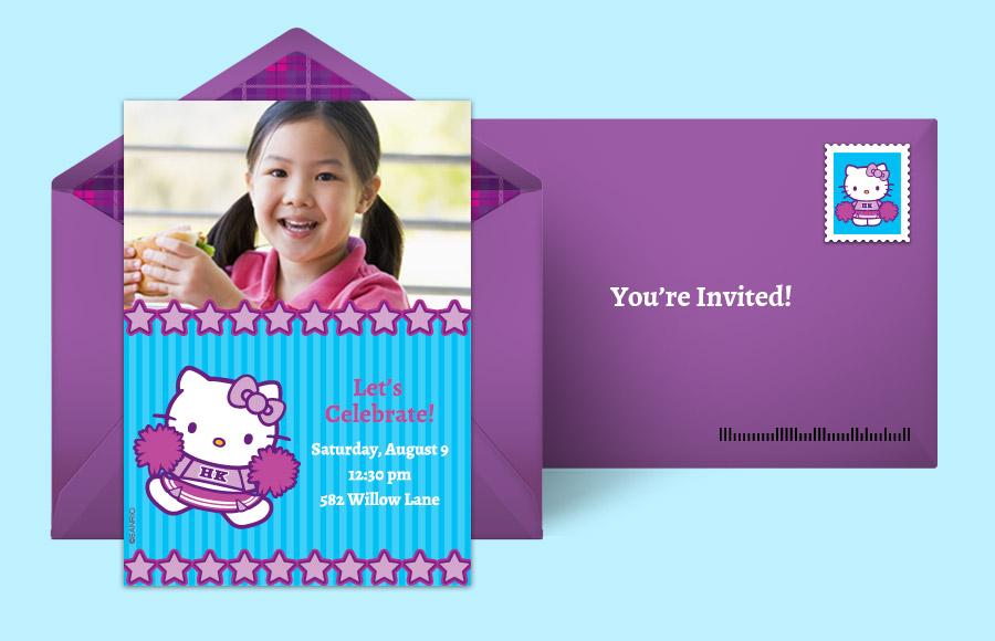 hello kitty invitation sample