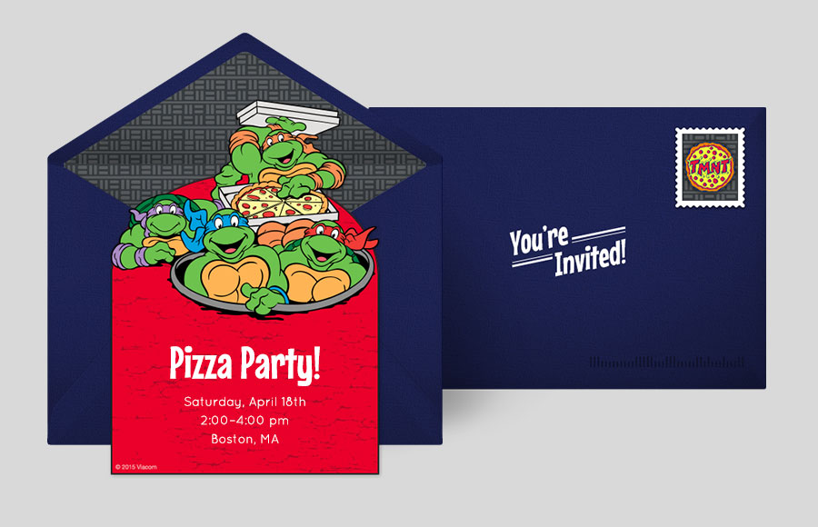 Free Ninja Turtles Invitations Teenage Mutant Ninja Turtles Online