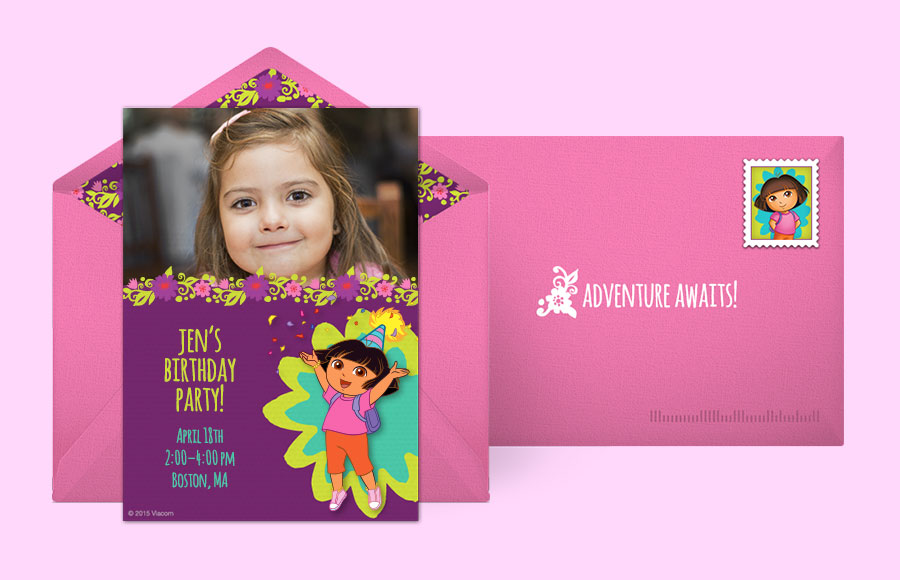 Free Dora Invitations, Dora the Explorer Online Invitations | Punchbowl