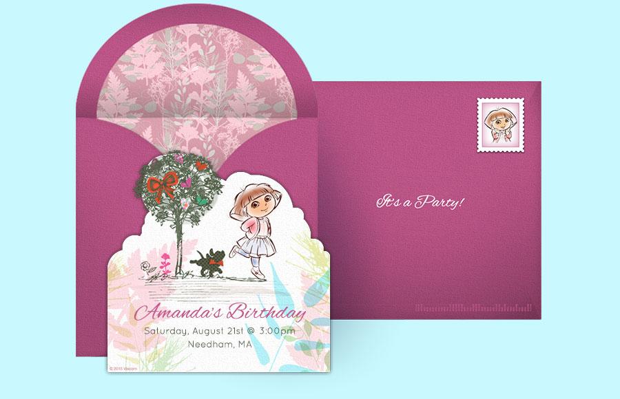 Free Dora Invitations, Dora the Explorer Online Invitations ...