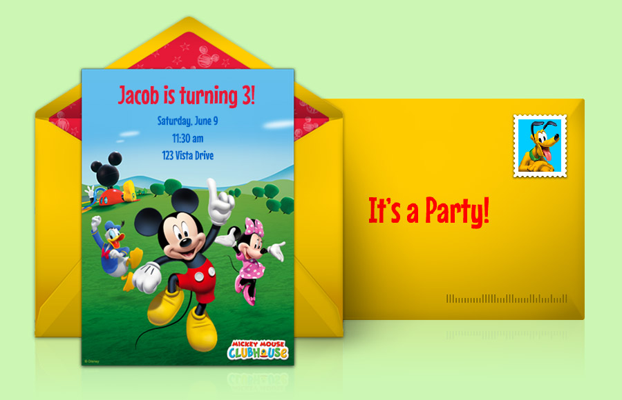 Mickey Minnie Mouse Invitations Personalised Birthday Party Invites