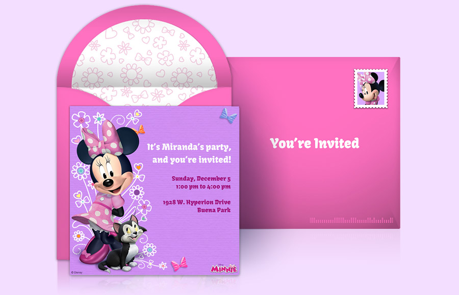 Send Minnie Mouse Online Invitations Free Get Started Plan A Party