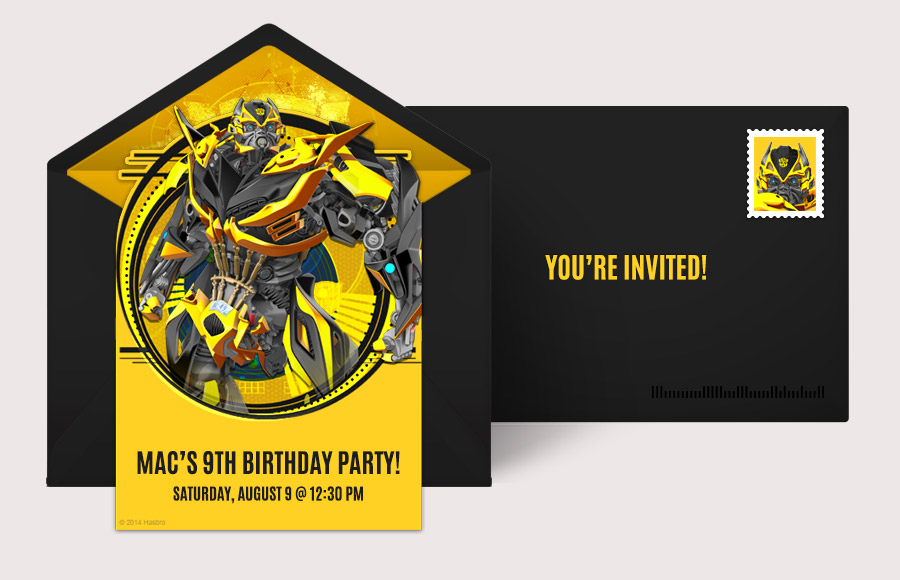 Free Transformers Invitations Transformers Online