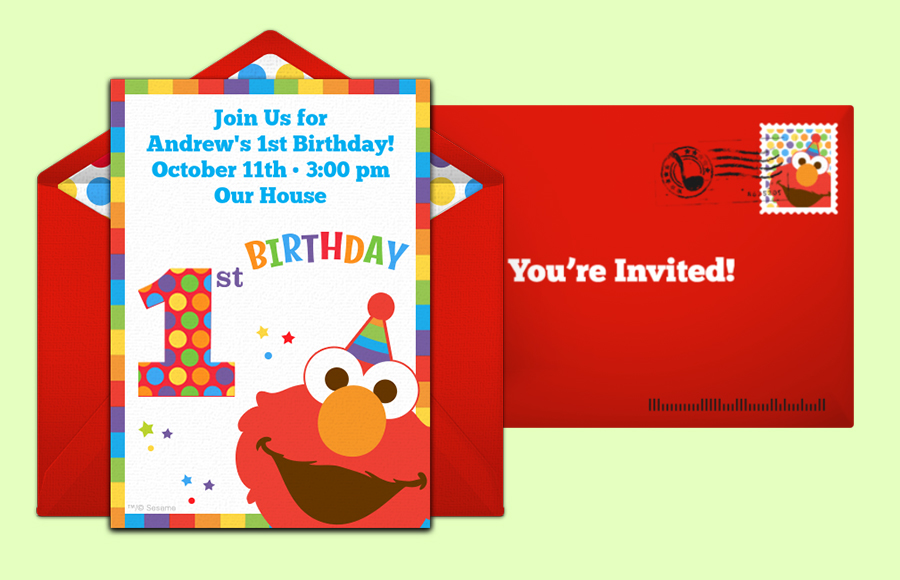 Plan a Elmo's 1st Birthday Party!
